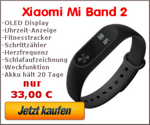 Mi Band 2 Kaufbanner
