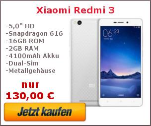 Xiaomi Redmi 3 Kaufbanner