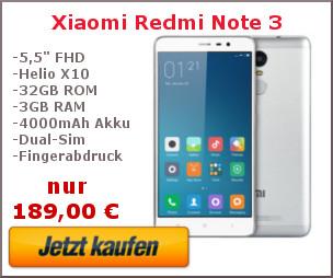 Xiaomi Redmi Note 3 Kaufbanner