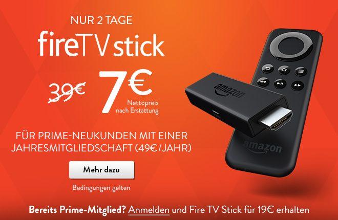 Amazon Fire TV Stick mit Prime Abo für 7 Euro vorbestellbar 2