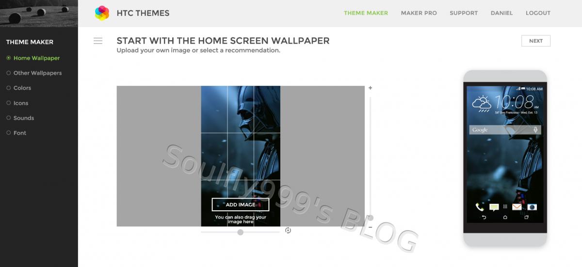 Google themes maker - Htc Thememaker Image