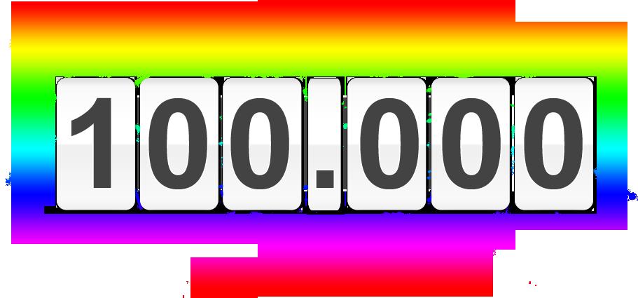 Erster Meilenstein erreicht: Vielen Dank für 100.000 Aufrufe auf Soulfly999's BLOG