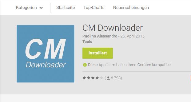 Appvorstellung: CM Downloader von Paolino Alessandro jetzt auch im Material Design 16