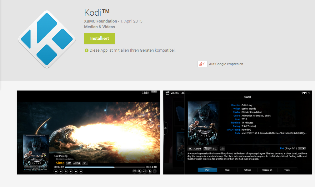 Kodi Beta Play Store
