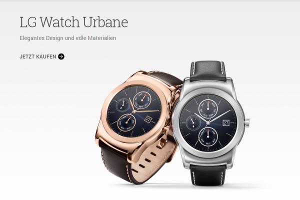 LG Watch Urbane Smartwatch im Google Play Store erhältlich 1