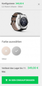 LG Watch Urbane Playstore kaufen