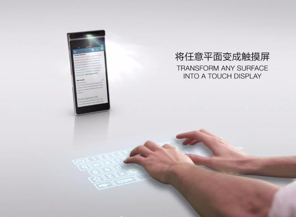 Lenovo Smart Cast: Neues Smartphone projiziert einen Touchscreen 2