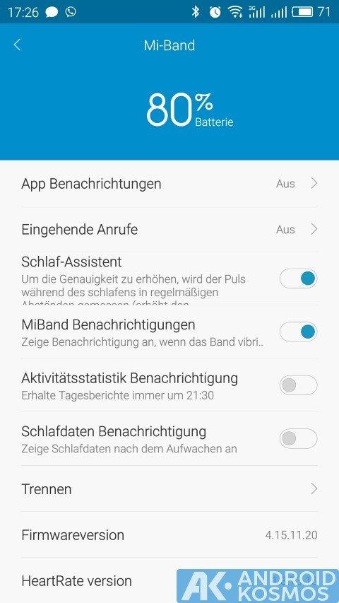 AndroidKosmos | Test / Review / Anleitung: Xiaomi Mi Band + Mi Band 1s und tweaked Mi Fit App 12
