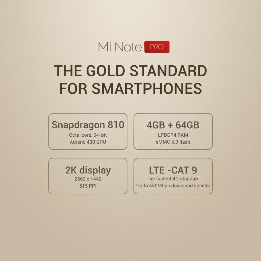 Xiaomi Mi Note Pro 5,7 Zoll Smartphone mit Snapdragon 810 Verkauf in Peking gestartet 3