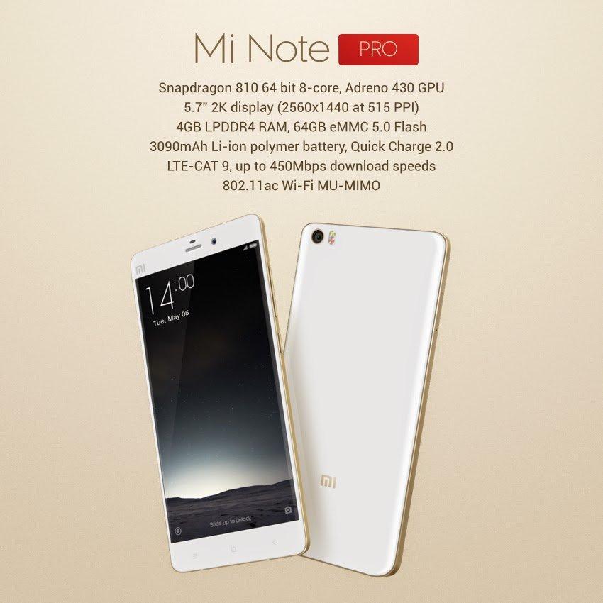 Xiaomi Mi Note Pro 5,7 Zoll Smartphone mit Snapdragon 810 Verkauf in Peking gestartet 10