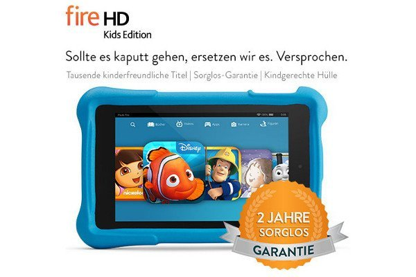 """Amazon: Fire HD Kids Edition-Tablet - """"Sollte es kaputt gehen, ersetzen wir es. Versprochen."""" 5"""