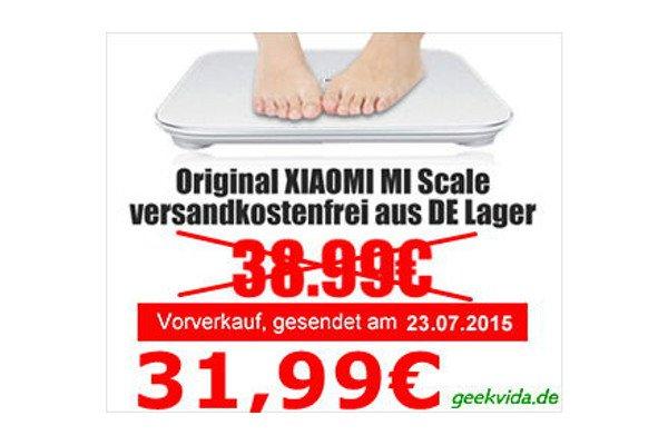 Partner-Angebot: Geekvida.de und AndroidKosmos.de - Xiaomi Mi Smart Scale Waage für 31,99€ erhältlich 2