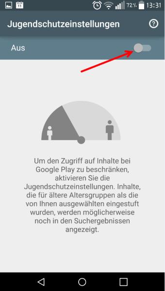 Anleitung: Im Google Play Store Jugendschutzeinstellungen vornehmen 8