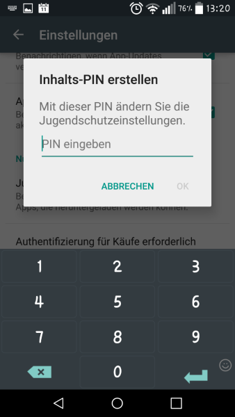 Anleitung: Im Google Play Store Jugendschutzeinstellungen vornehmen 1