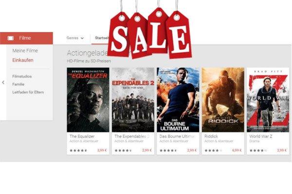 Google Play Store Angebot: HD-Filme zum Preis von SD-Filmen 2