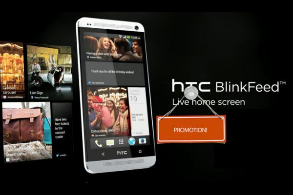 HTC in Zukunft mit Werbung in BlinkFeed 3