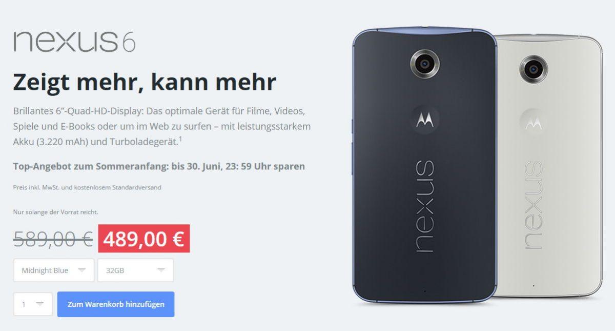 Motorola bietet Nexus 6 & Moto X 2. Generation 100 Euro günstiger an 3