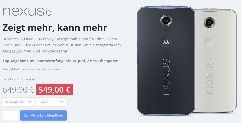 Motorola bietet Nexus 6 & Moto X 2. Generation 100 Euro günstiger an 4