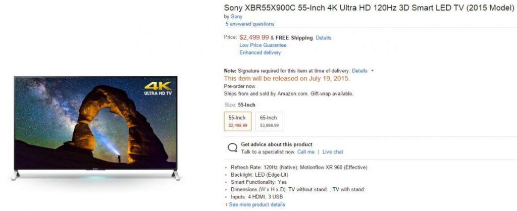 Sony: Preise in den USA für 0,49cm ultra-dünnen 4K Android TV bekannt 9