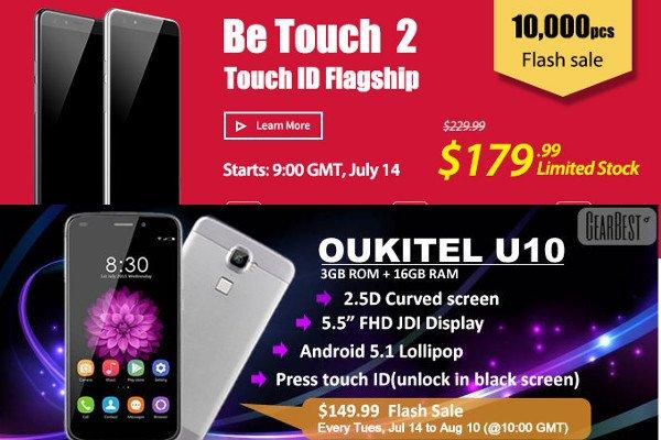 Partnerangebote: Ulefone be touch 2 165 Euro und Oukitel U10 147 Euro 7