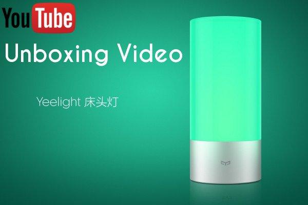 Die neue Xiaomi Yeelight Nachttischlampe im Unboxing Video 1