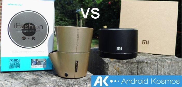 AndroidKosmos | Vergleich zwischen zwei 20 Euro Bluetooth Lautsprecher: Xiaomi Mini Speaker vs Nillkin iFashion 8