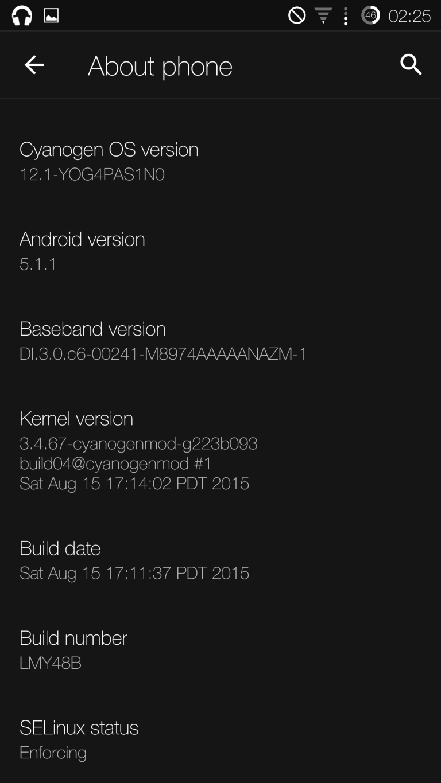 OnePlus One Cyanogen OS 12.1 wurde veröffentlich 2