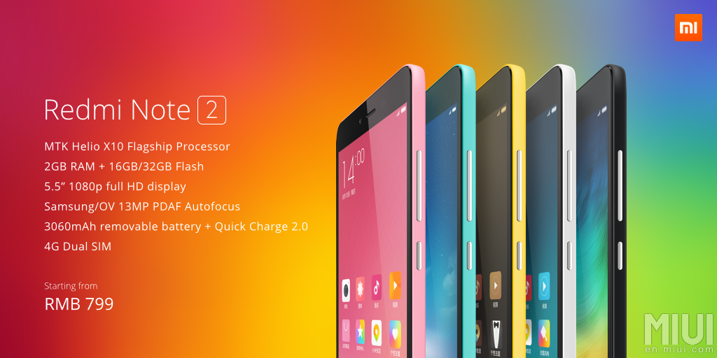 Xiaomi Event: Vorstellung MIUI 7, Redmi Note 2 und Mi Nano Wifi Router 24