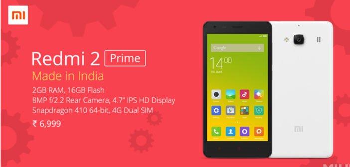 Xiaomi Redmi 2 Prime aus Indien offiziell vorgestellt 1