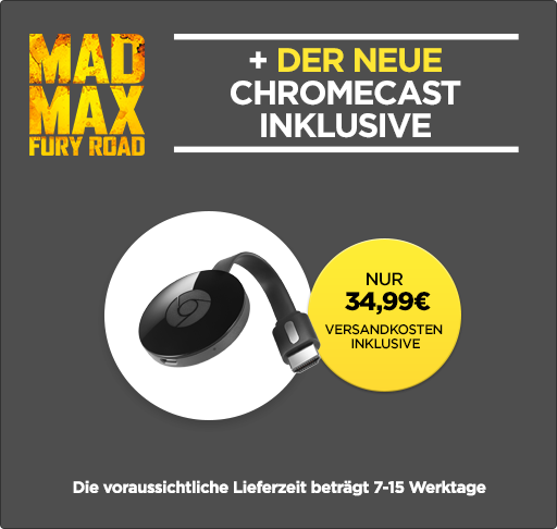 Chromecast 2 + Mad Max 34,99