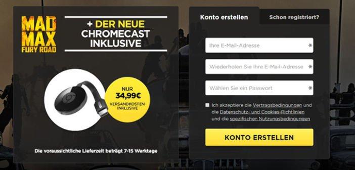 Angebot: Chromecast 2 + Film Mad Max Fury Road für 34,99 Euro 2