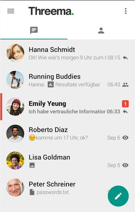 Update für Threema Messenger auf Android erhält dunkles Design und mehr 6