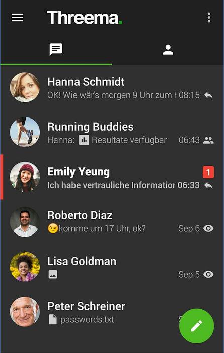 Update für Threema Messenger auf Android erhält dunkles Design und mehr 5