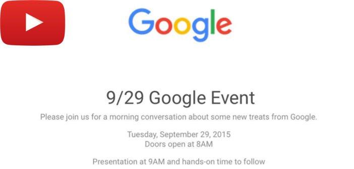 Google Event: Der Stream startet heute Abend um 18 Uhr deutscher Zeit auf YouTube 1