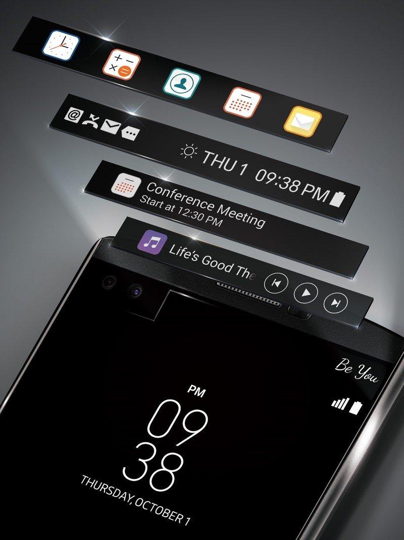 LG V10 Second Screen