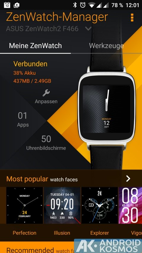 Test / Review: ASUS ZenWatch 2 (WI501Q) Smartwatch mit unboxing Video 37