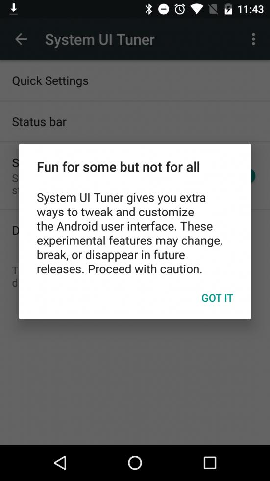 Android 6.0 Marshmallow versteckte Einstellungen im System Tuner UI 2