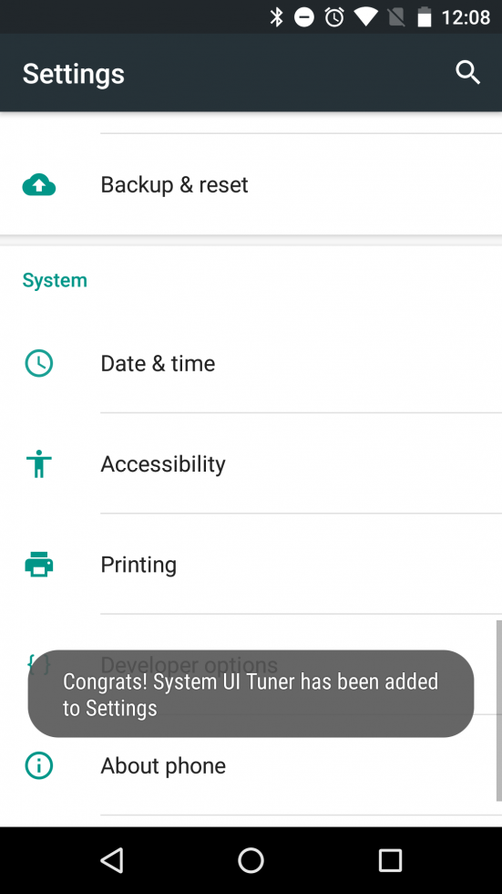 Android 6.0 Marshmallow versteckte Einstellungen im System Tuner UI 4