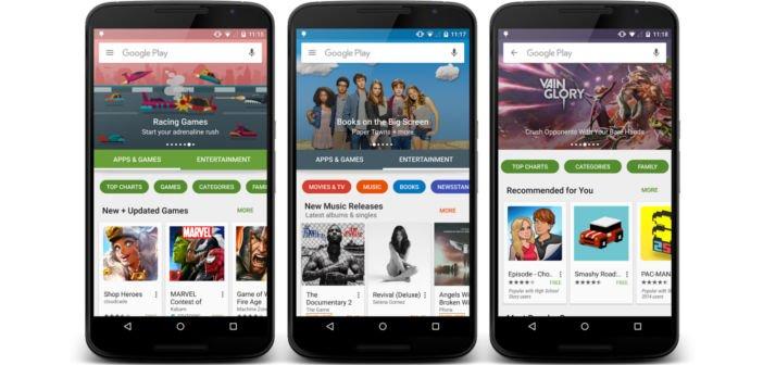 AndroidKosmos | Google Play Store bekommt ein vollständiges neues Design 5
