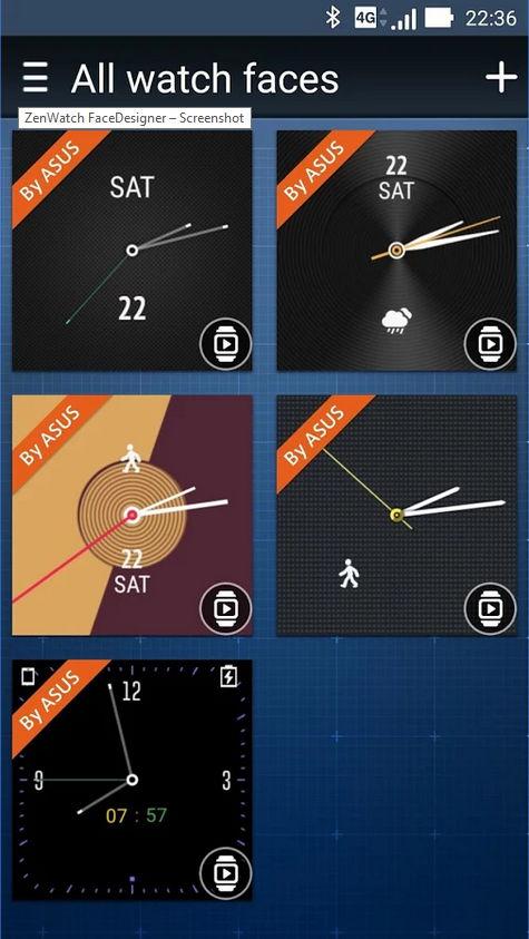 ZenWatch Watchface/Designer-App von ASUS veröffentlicht 4