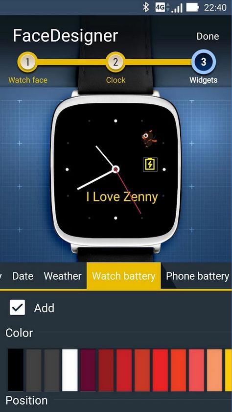 ZenWatch Watchface/Designer-App von ASUS veröffentlicht 8