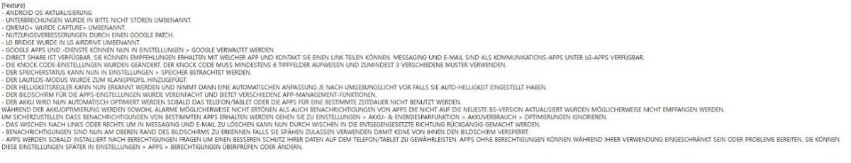 LG G4 6.0 Changelog
