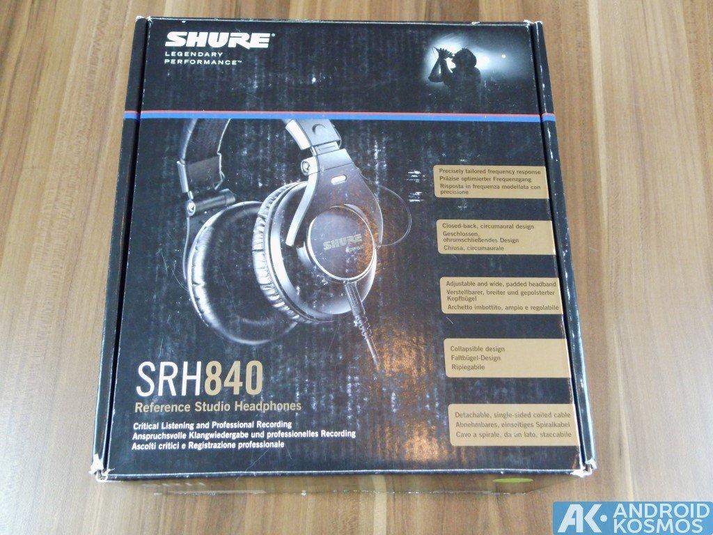 Test / Review: SHURE SRH840 - Referenz Studio Kopfhörer 22