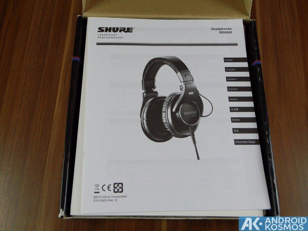 Test / Review: SHURE SRH840 - Referenz Studio Kopfhörer 23