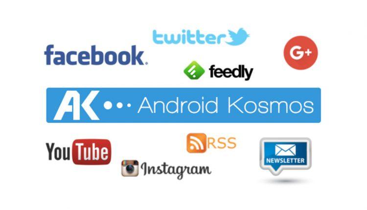 Plattformen von AndroidKosmos.de: Facebook, Google+, Twitter, YouTube, Instagram, RSS und mehr... 2