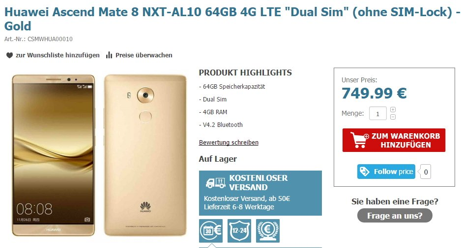 Huawei Mate 8 offiziell vorgestellt mit technischen Daten, Fotos und Preisen 32