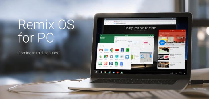 CES 2016: Jide bringt Android kostenlos auf dem Desktop-PC mit RemixOS 1