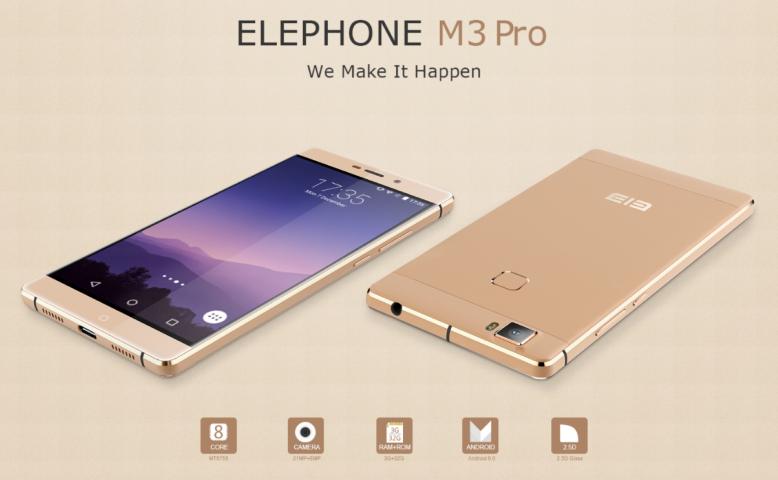 Elephone M3 im Presale - Schickes Mittelklasse Handy mit guter Ausstattung 1