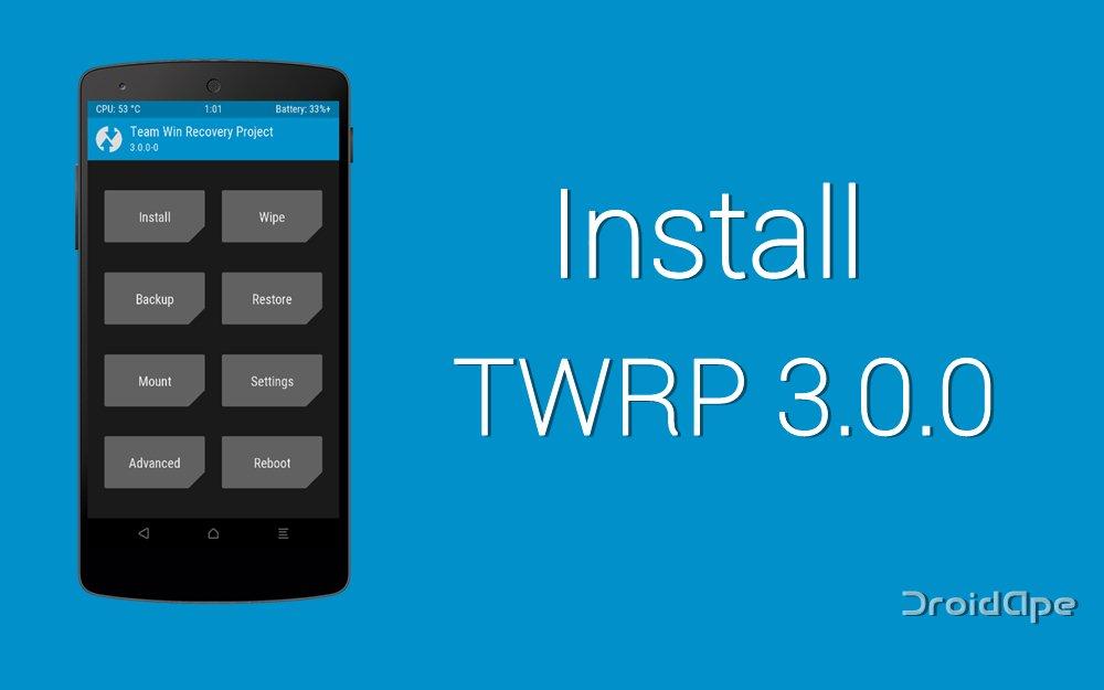 TWRP 3.0 neue Version des Custom-Recovery veröffentlicht 1