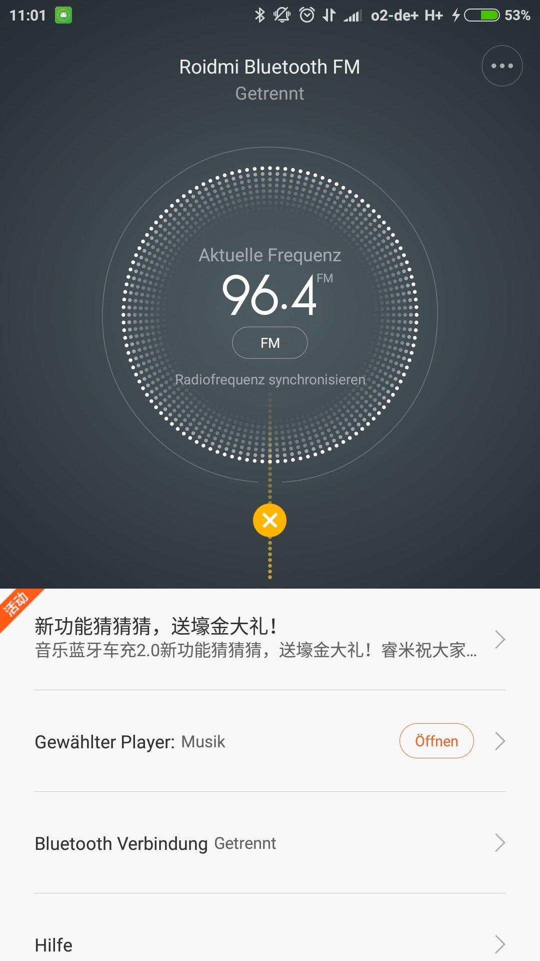 Xiaomi Roidmi FM Transmitter App 1.39 Deutsch 8